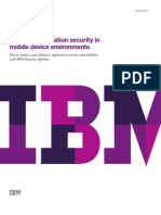 Ensuring Application Security in Mobile Device Environments