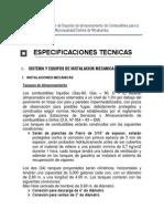ESPECIFICACIONES TECNICAS grifos