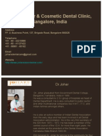 Cosmetic Dentistry, Bangalore - Johars Cosmetic Dental Clinic, Bangalore