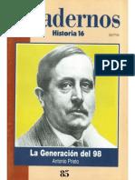 Cuadernos Historia 16, nº 085 - La Generación del 98
