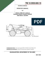 TM 10-3930-660-10 TRUCK, FORKLIFT; 6,000 LB VARIABLE REACH, ROUHG TERRAIN