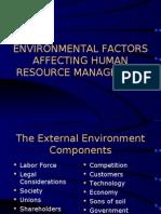 Environmental Factors Affecting HR