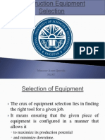 Construction Equipment Selection