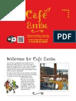 Cafe Arriba Menu