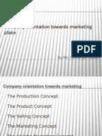 Company Orientation Towards Marketing Place