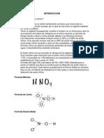 reporte de la elaboración de ACIDO NITRICO