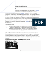 History of Philippine Constitutions