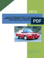CÁLCULO TÉRMICO Y BALANCE ENERGÉTICO DEL MOTOR