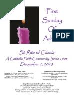 St. Rita Parish Bulletin 12/1/2013