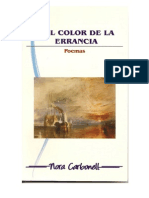 DEL COLOR DE LA ERRANCIA. Carbonell Nora. Poemas. 1a. Ed. virtual.