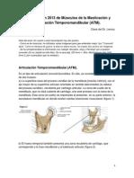 Transcripción 2013 de Músculos de la Masticación y Articulación Témporomandibular