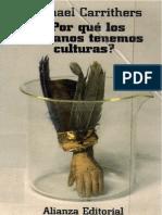Carrithers, Michael - Por Que Los Humanos Tenemos Culturas