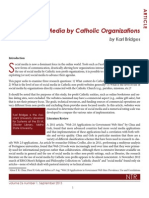 Use of Social Media by Catholic Organizations