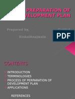 Preparation of Development Plan