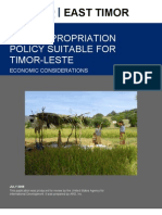 Land Expropriation Policy for East Timor
