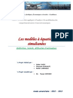 5-Intro Des Modeles a Equations Simultanees