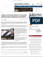 Indiana University Kokomo Chancellor Testifies Before Legislative Committee - Kokomo Perspective Home