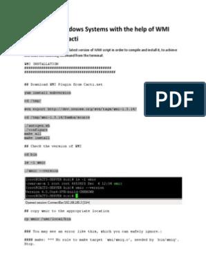 Cacti Centos WMI Monitoring windows systems   Php