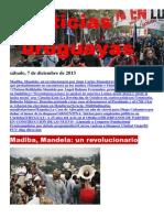 Noticias Uruguayas sábado 7 de diciembre del 2013