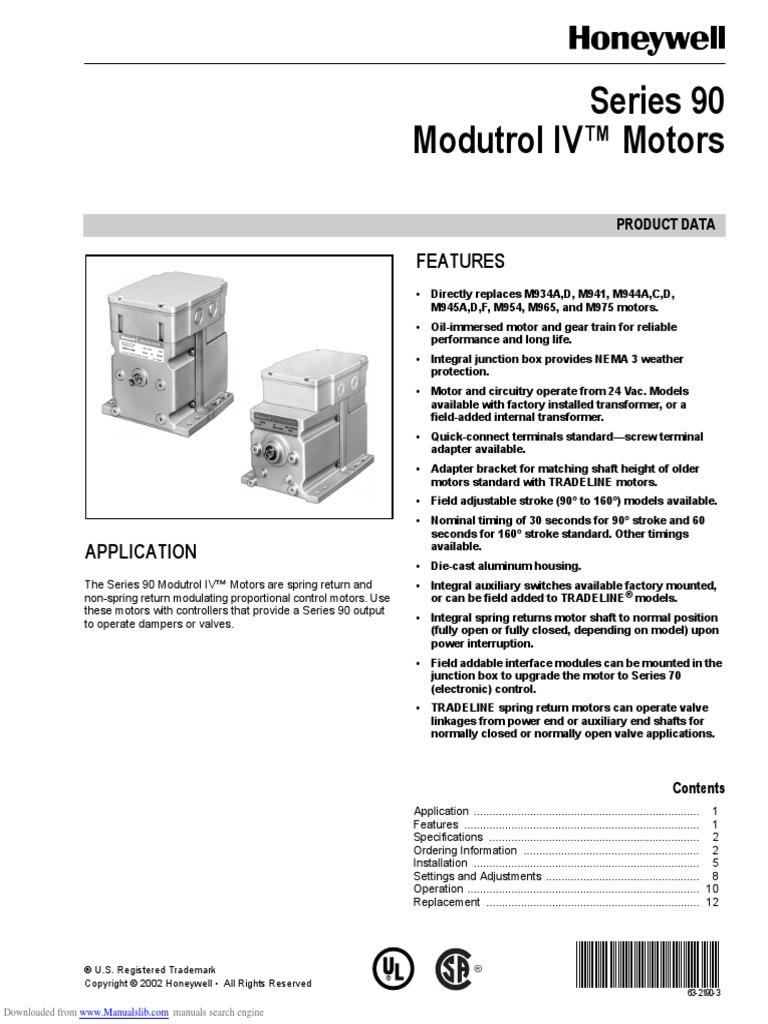 Incredible Modutrol Iv Motors Series 90 Switch Electrical Wiring Wiring Cloud Venetbieswglorg