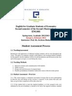 ENG401 Student Assessment Process2013