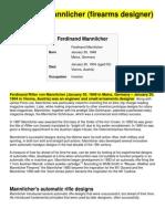 Ferdinand Mannlicher (Firearms Designer)