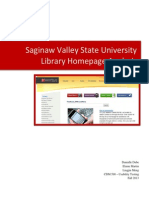 svsu library homepage analysis