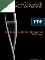 BARREL HORSE SALE/ ASTA DEI CAVALLI DA BARREL