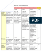 rubric for classroom web pages