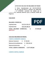 EJERCICIO PRACTICO DE CÁLCULO DE BALANZA DE PAGOS