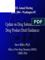 Draft Drug Starting Material GUidance