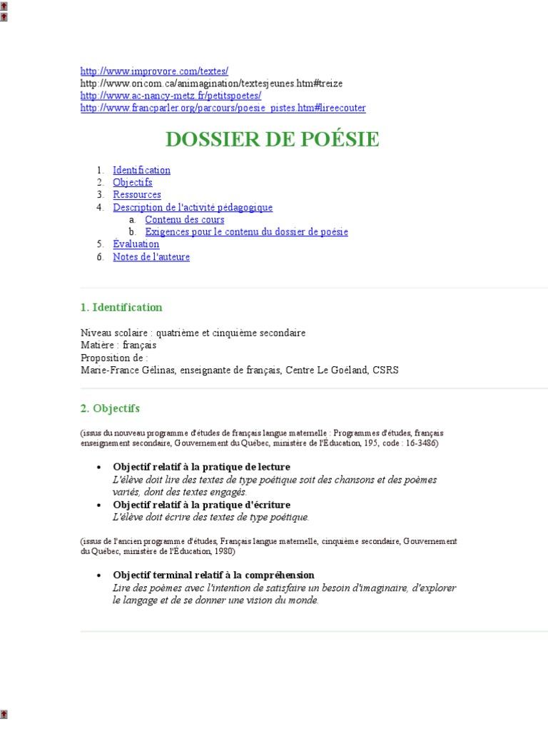 New Document Microsoft Word Poésie Langue Française