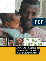 In Their Own Right - Addressing the SRH Needs of Men Worldwi
