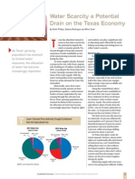 """""""Water Scarcity a Potential Drain on the Texas Economy"""""""