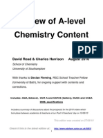 Comparison of Board Content Chemistry A-Level