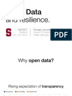 Open Data and Resilience - Presentation at Stanford School of Engineering