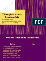 week 12- thoughts about leadership