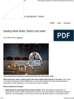 Reading While White- History and News