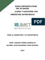 El Marketing Estrategico y Su Importancia