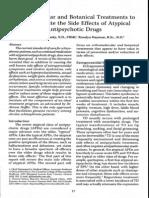 Orthomolecular Botanical Treatments -for Schizophrenia