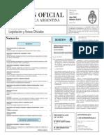 Boletín Oficial con Resolución anti.dumping