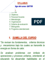 syllabus Transmisión de Calor 2012-I