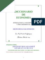 Diccionario De Economia - Carlos E. Rodríguez
