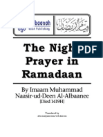 En Night Prayer in Ramadan