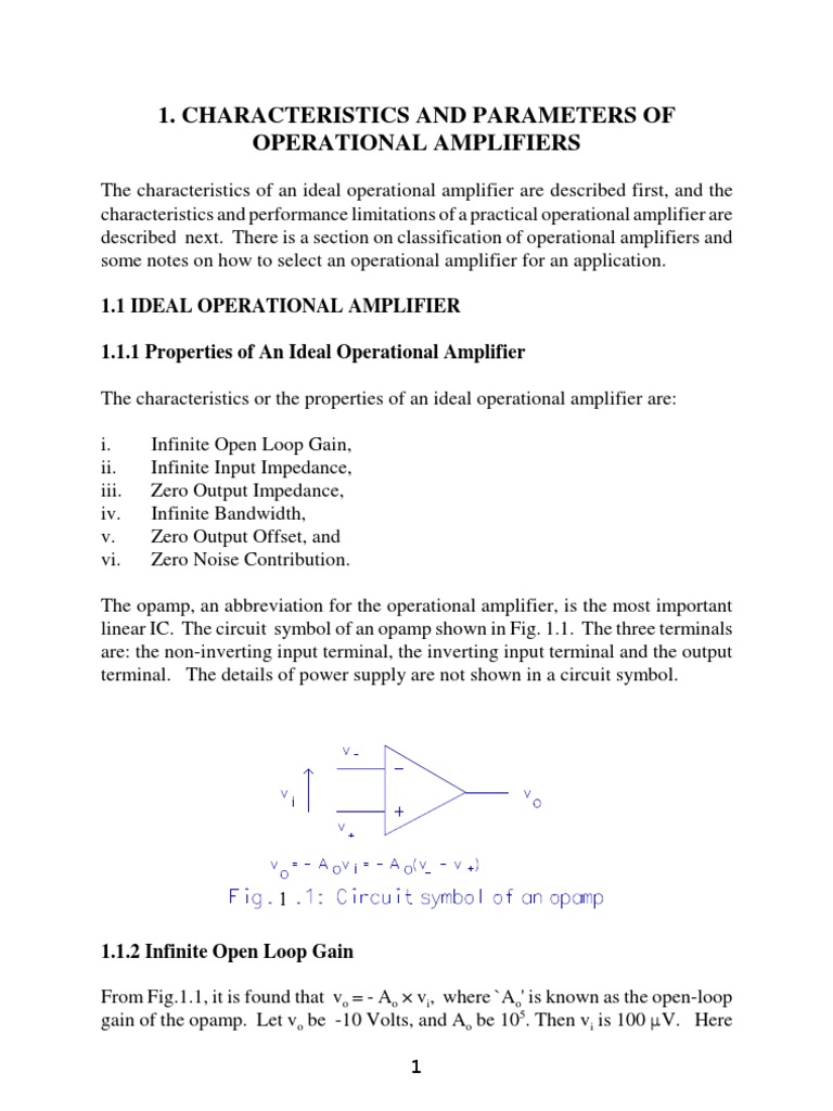 Characteristics Of Opamp Operational Amplifier Op Amp How Does This Noninverting Work