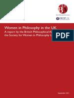 Women in Philosophy in the UK