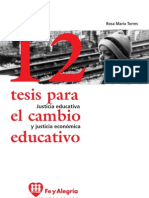 Rosa María Torres, 12 tesis para el cambio educativo