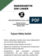 1. Non Linier Farmakokinetik 2013 mata kuliah biofarmasi