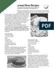 Leaflet - Coconut Flour Recipes
