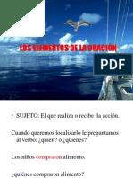 LOS ELEMENTOS DE LA ORACIÓN